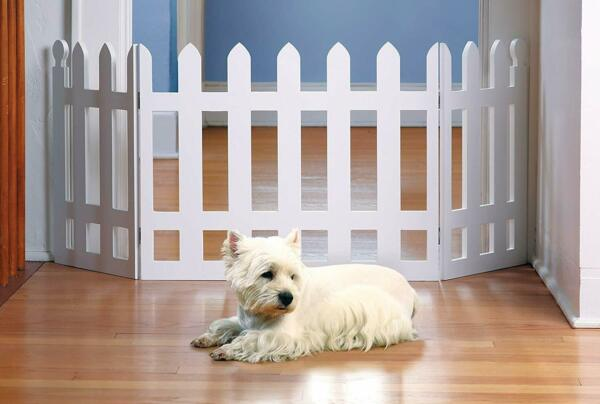 Folding Picket Pet Fence Home Indoor Outdoor Expanding Dog Safety Gate $42.99