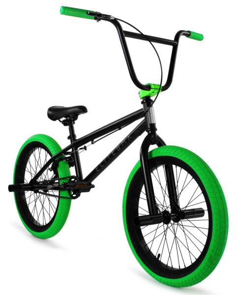 Elite 20quot; BMX Stealth Bicycle Freestyle Bike 1 Piece Crank Black Green NEW 2021 $269.00