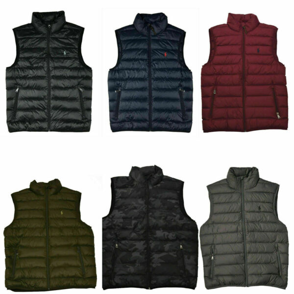 New With Tags Polo Ralph Lauren Men's Down Packable Puffer Vest Jacket