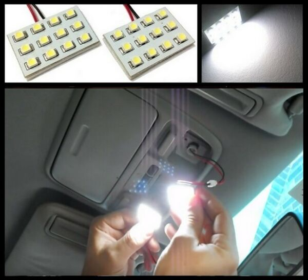 2x 5000k White Map Dome Trunk Interior Light 12 LED panels for Toyota Lexus A1