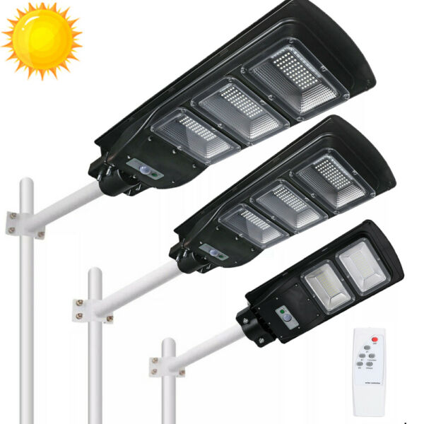990000LM Solar LED Street Light Commercial Outdoor IP67 Area Security Road Lamp $73.79