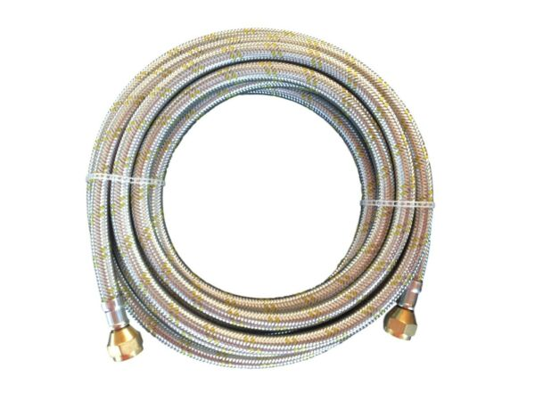 Natural Propane Gas Hose 12ft Stainless Steel Braided Line LP LPG