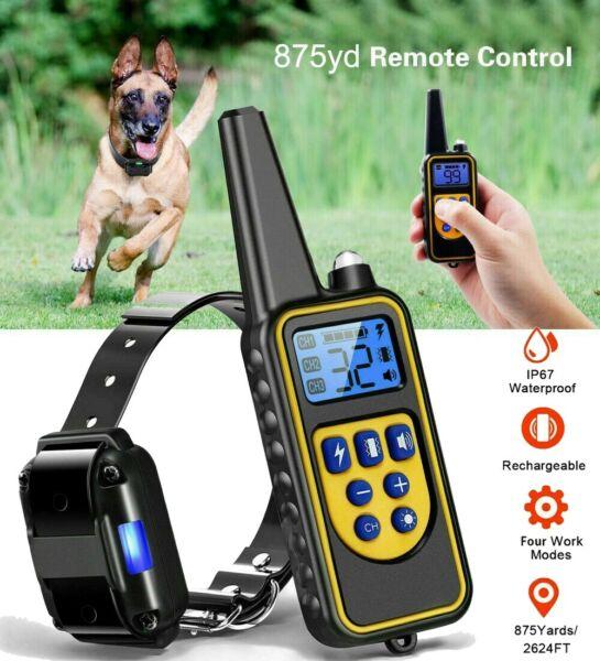 2600 FT Remote Dog Shock Training Collar Rechargeable Waterproof LCD Pet Trainer $27.90