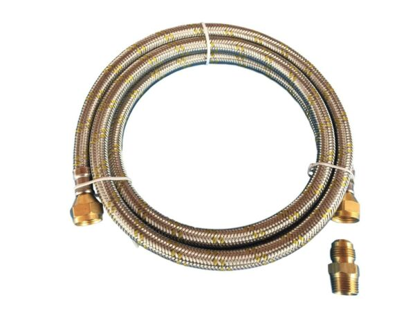 Natural Propane Gas Hose 10ft Stainless Steel Braided Line LP LPG Grill Parts
