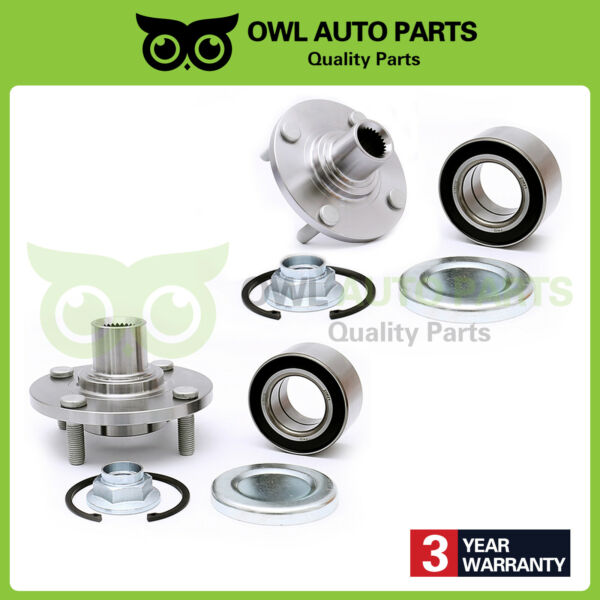 Front Wheel Hub Bearing & Kit Pair Set of 2 New for 2000-2011 Ford Focus 518510