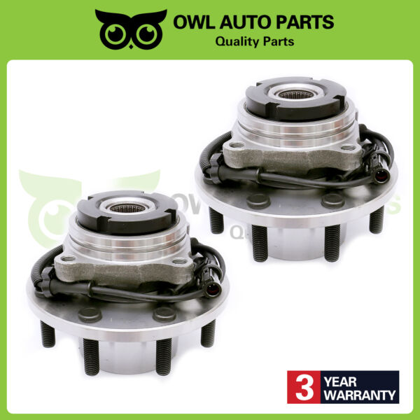 Pair of 2 Front DRW Wheel Hub Bearing Course Thread AFTER 32299 w ABS 515057