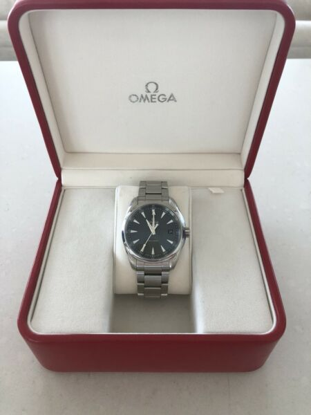 Omega Sea Master Aqua Terra 150m Stainless Steel With Gray Face