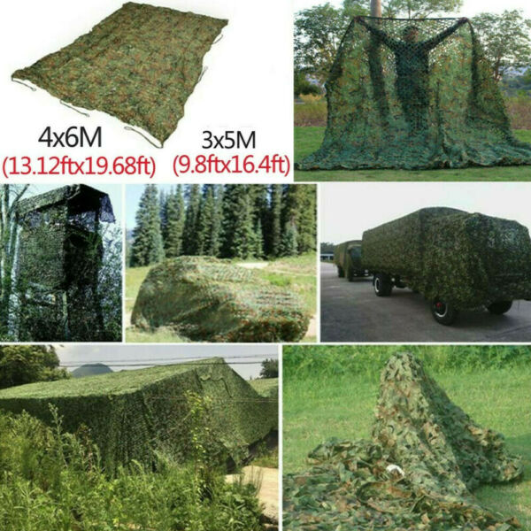 3 X 5M Woodland Hunting Camping Military Camouflage Netting Hide Camo Cover Net $28.89