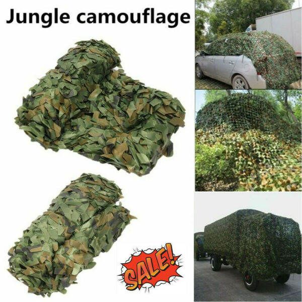 Military Camouflage Net Camo Netting Car Cover Tent Hunting Blinds Shade Hide US
