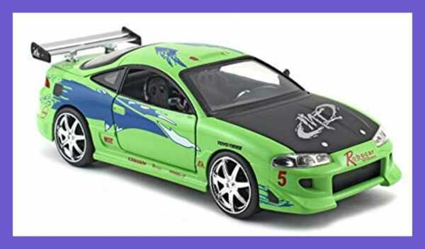 Toys Fast & Furious 1 24 Diecast Vehicle Brian's Mitsubishi Eclipse GREEN