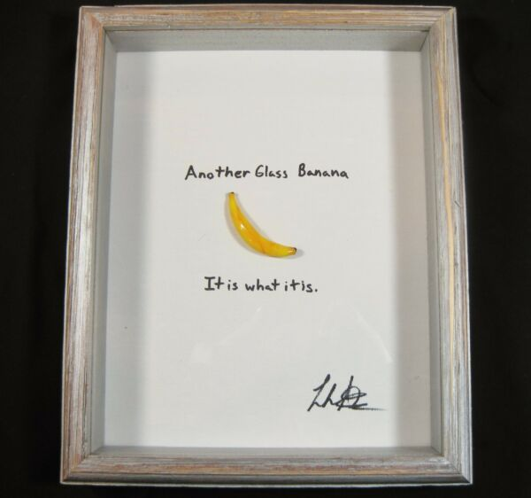 Another Glass Banana.  It is what it is.  By Leah Nietz Glass Artist SRA