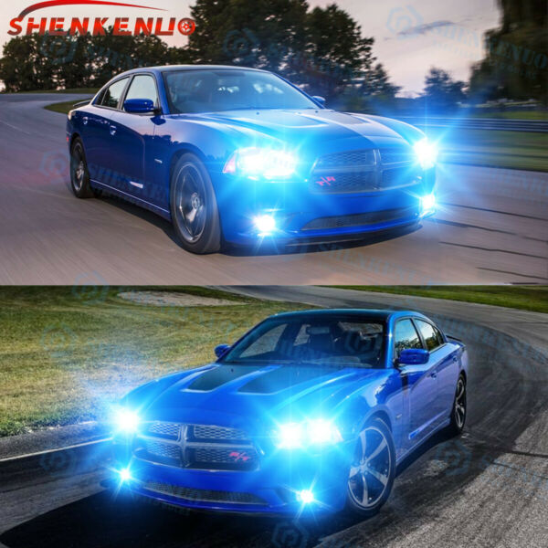 For Dodge Charger 2011 12 13 14 8000K LED Headlight HiLow + Fog Light Bulbs 6x
