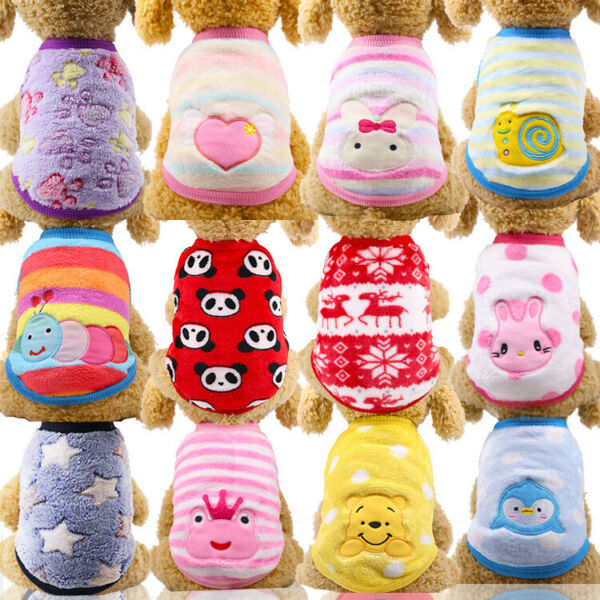 Fashion Small Dog Clothes Pet Puppy Costume Dog Cat Apparel Vest 17Color XXS XL $4.59