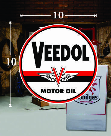 10quot; X 10quot; VEEDOL GAS PA OIL VINYL DECAL LUBESTER OIL PUMP CAN LUBSTER $24.95