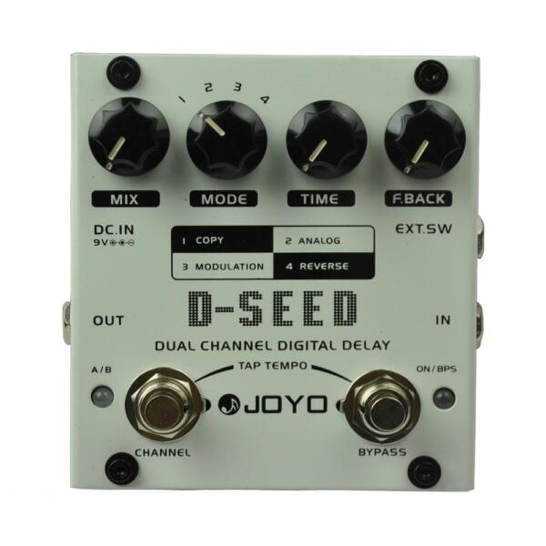 JOYO D-SEED Dual Channel Digital Delay Guitar Effect Pedal Max. Delay 6 seconds