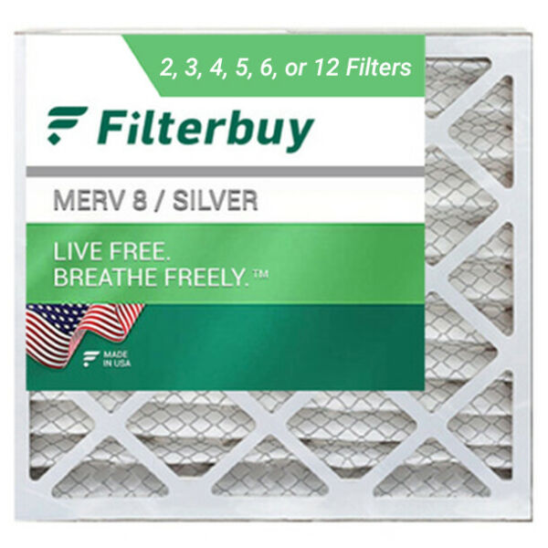 FilterBuy 12x12x1 Air Filters Pleated Replacement for HVAC AC Furnace MERV 8 $34.98