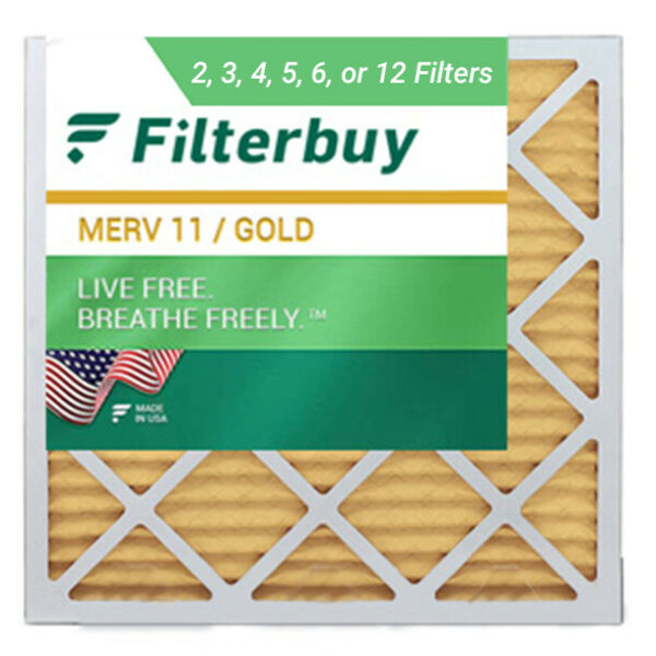FilterBuy 14x14x1 Air Filters Pleated Replacement for HVAC AC Furnace MERV 11 $26.60