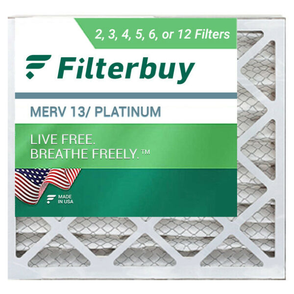 FilterBuy 14x14x1 Air Filters Pleated Replacement for HVAC AC Furnace MERV 13 $52.86