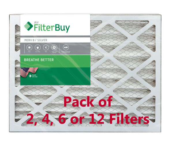FilterBuy 16x25x4 Air Filters Pleated Replacement for HVAC AC Furnace MERV 8 $33.28