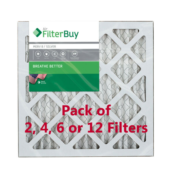 FilterBuy 18x18x1 Air Filters Pleated Replacement for HVAC AC Furnace MERV 8 $18.98