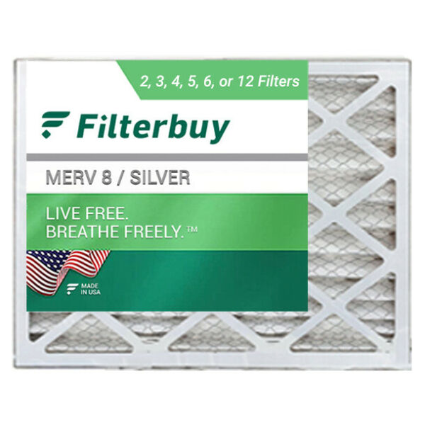 FilterBuy 18x20x2 Air Filters Pleated Replacement for HVAC AC Furnace MERV 8 $23.98