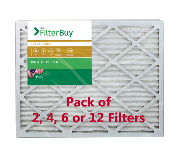 FilterBuy 18x30x1 Air Filters Pleated Replacement for HVAC AC Furnace MERV 11 $26.68
