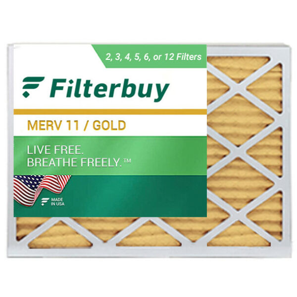 FilterBuy 20x25x1 Air Filters Pleated Replacement for HVAC AC Furnace MERV 11 $39.88