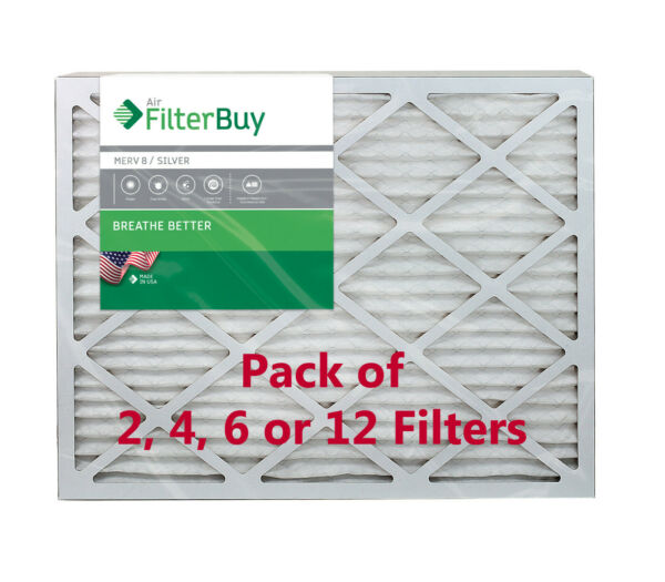 FilterBuy 25x25x1 Air Filters Pleated Replacement for HVAC AC Furnace MERV 8 $38.08