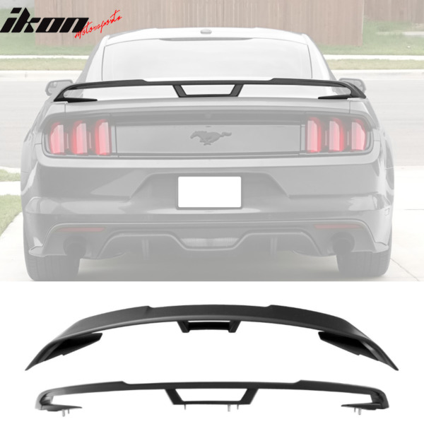 Fits 15-20 Ford Mustang 2018+ Performance Pack Style Trunk Spoiler - Unpainted
