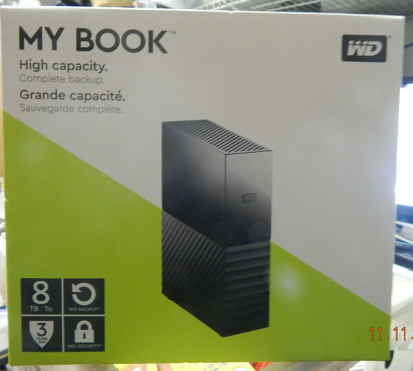 Western Digital 8 TB External My Book (WDBB GB0080HBK-NESN) Hard Drive