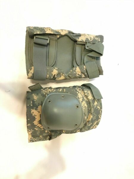 LARGE NEW US Military Knee Pads ACU UNIVERSAL CAMO LARGE NEW