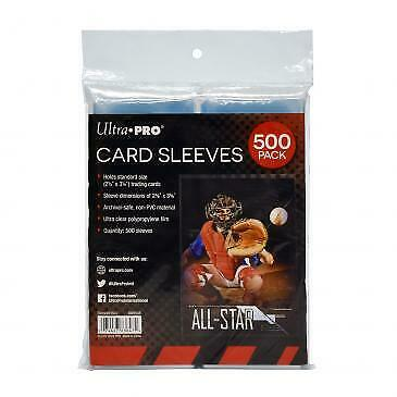 Ultra PRO - 500 Pack of Card Soft Sleeves - Regular Sized Trading