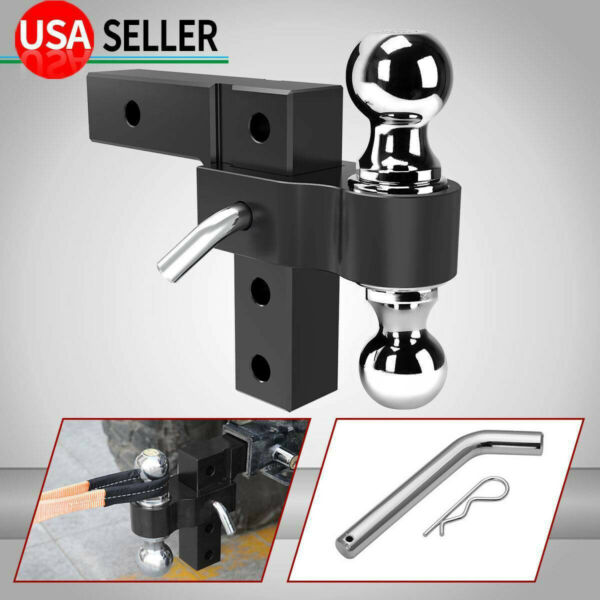 6061 Aluminum 6#x27;#x27; Adjustable Receiver Trailer Hitch Towing w 2quot; amp; 2 5 16quot; Ball $76.80