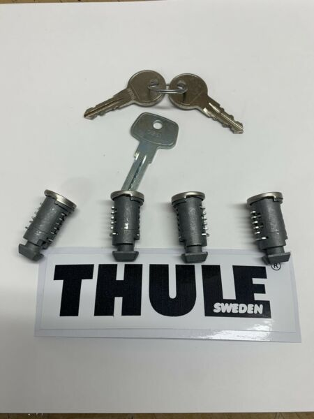 Thule Lock And Key Set 4 Pk Free Sticker $40.00
