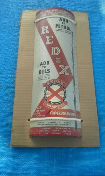 AWESOME OLD RED X OIL ADDITIVE SIGN FROM ENGLAND......LOOK