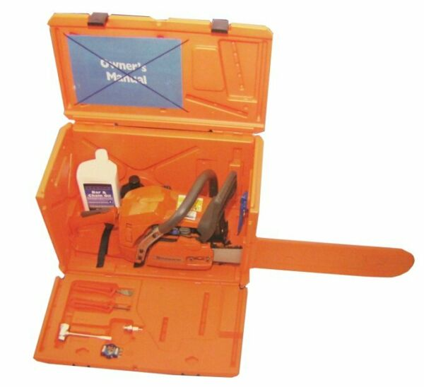 NEW HUSQVARNA 100000107 Powerbox Quality Chain Saw Carrying Case Orange