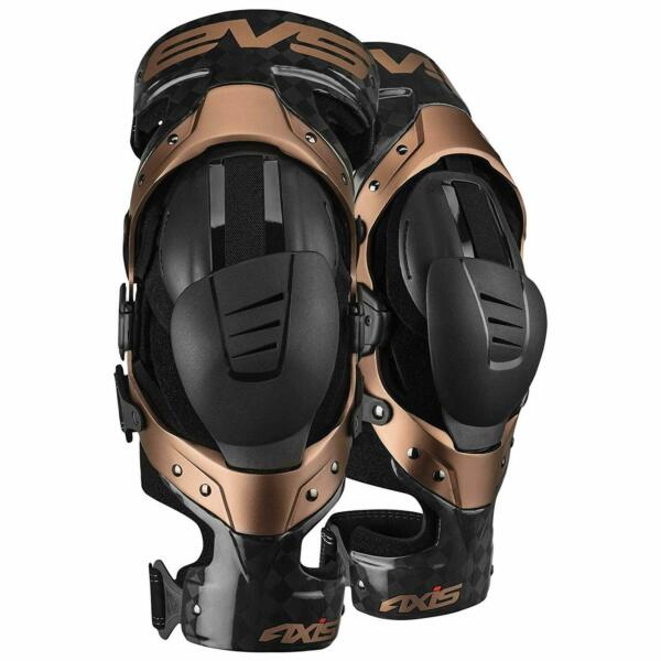 EVS Sports BlackCopper Axis Pro Knee Brace Size Large Pair Made for Lightweigh