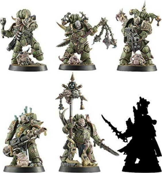 Warhammer Space Marine Heroes Series 3 Japan Limited 6 Unique Heroes Death Guard