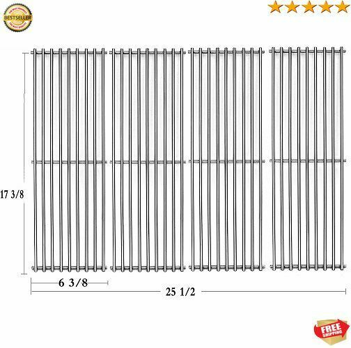 4 Stainless Cooking Grid Grates For Huntington Broil King Baron 340 420 440 490