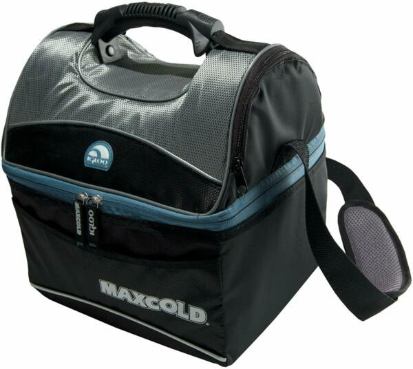 Lunch Box Insulated Bag For Adults Igloo Travel Picnic Food Cooler 16 Qt Black