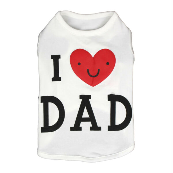 Pet Tank Top Soft Dogs Clothes Shirt Puppy Love Dad Costume Spring Cute Cool $12.99