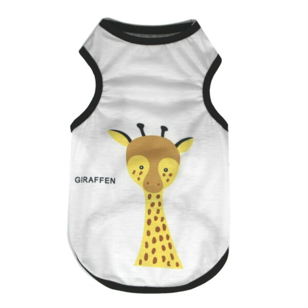 Pet Tank Top Soft Dogs Clothes Spring Puppy Costume Giraffe Yellow Cute Cool $12.99