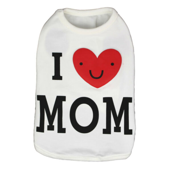 Pet Tank Top Soft Dogs Clothes Shirt Puppy Love Mom Costume Spring Cute Cool $8.99