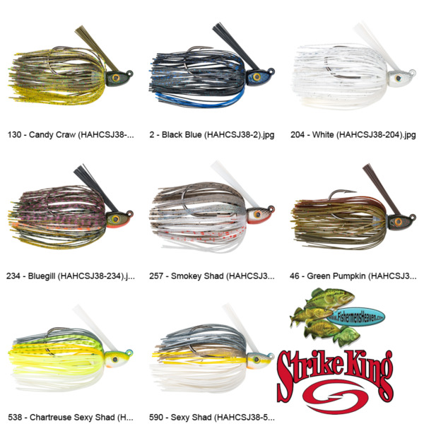 Strike King Jig Swim 3 8oz HAHCSJ38 Hack Attack Heavy Cover Any 8 Colors Lure $7.77