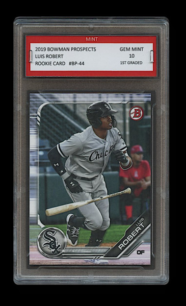 LUIS ROBERT 2019 BOWMAN PROSPECTS Topps 1ST GRADED 10 ROOKIE CARD RC WHITE SOX