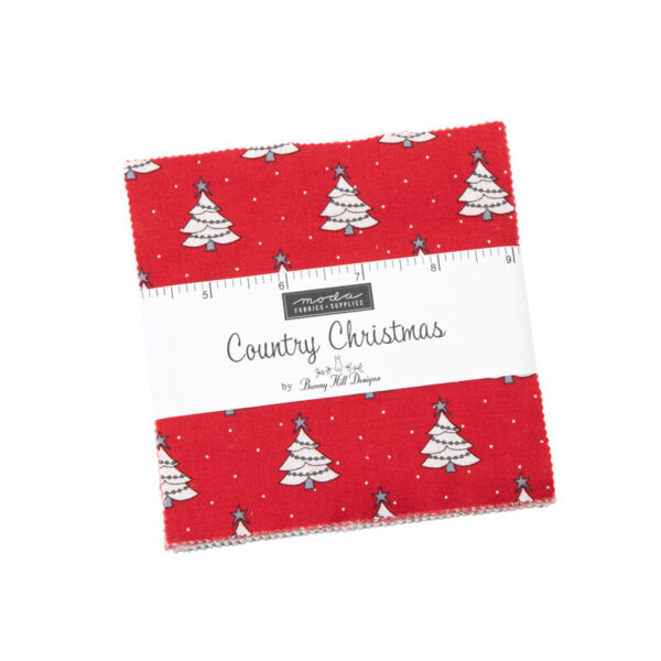 CHARM PACK COUNTRY CHRISTMAS 42 5 IN SQUARES MODA FABRIC BUNNY HILL 2960PP