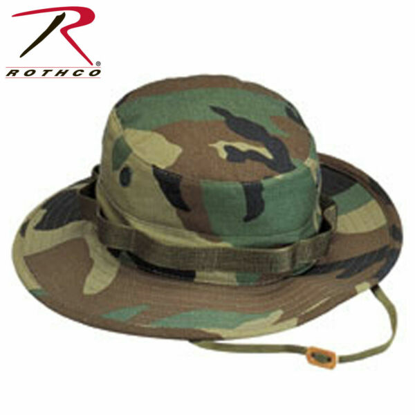 ROTHCO Boonie Hat Woodland Camo Vented 100% Cotton Ripstop Rothco JUNGLE