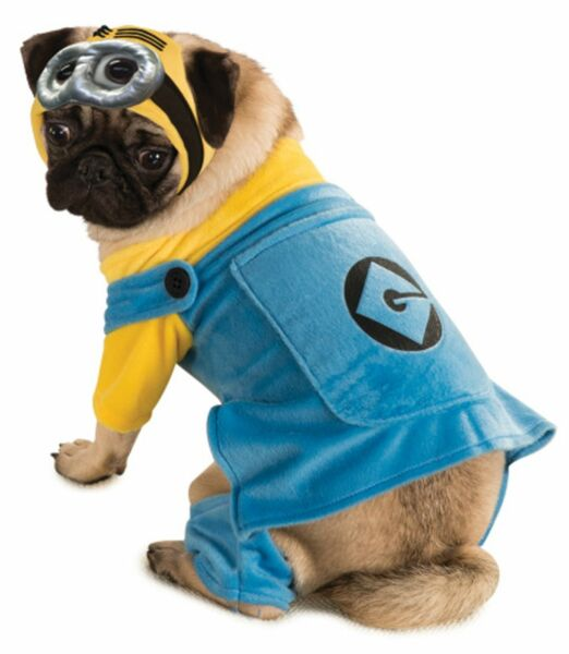 DESPICABLE ME MINION PET COSTUME XL Extra Large Dog Goggles Gru LICENSED NEW $16.95