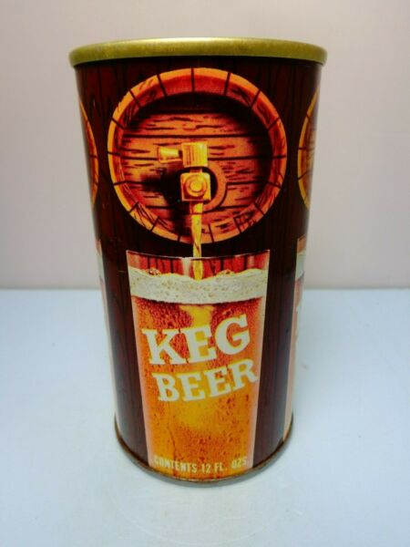 KEG STRAIGHT STEEL PULL TAB BEER CAN #84-29 AMERICAN BREWERY BALTIMORE MARYLAND
