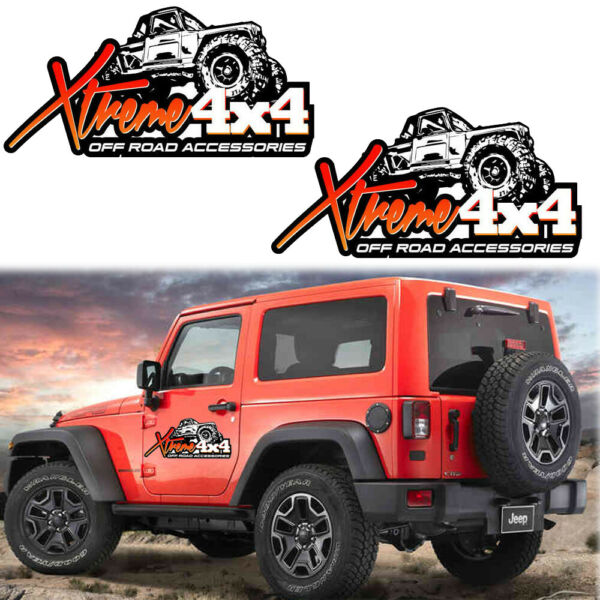4X4 OFF ROAD Accessories Hood Body Cars Truck Off Road Vinyl Decal For Jeep Ford $10.99